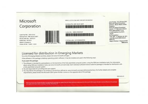 Microsoft oem wind 8.1 sl 32 bit
