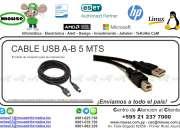 CABLE USB A-B 5 METROS