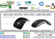 MOUSE MICRO WIR ARC USB NEGRO