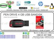 PEN DRIVE 4 GB USB SANDISK