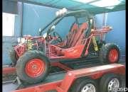 Potente vehículo todoterreno KINROAD BUGUI XT 300, AÑO 2010, COLOR ROJO.