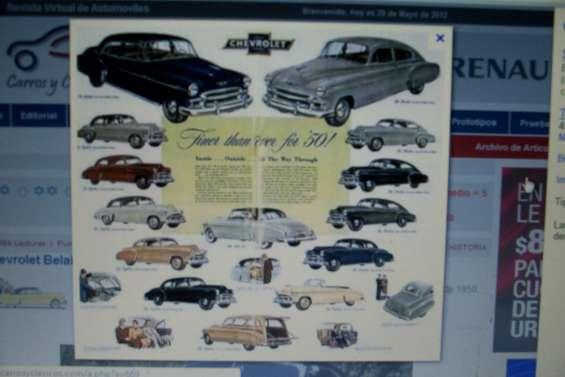 Poster linea de modelos chevrolet 1951
